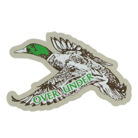 Over Under Final Flight Duck sticker is unique and as southern as the gentleman that displays it. Perfect for your Bison cup, cooler, or truck window. Shop Bennett's Clothing for the brands you want with the customer service you deserve.