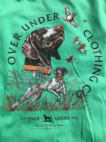 Over Under Piney Creek Pointers T-Shirt-Green Tea