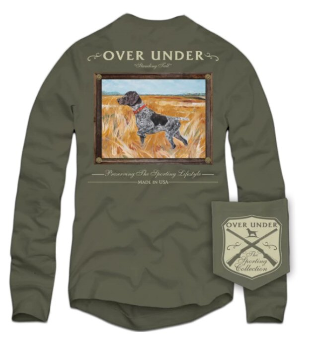 Over Under Standing Tall long sleeve t-shirt has spot on styling and made in the USA. Shop Bennetts Clothing for the best names in mens outdoor clothing