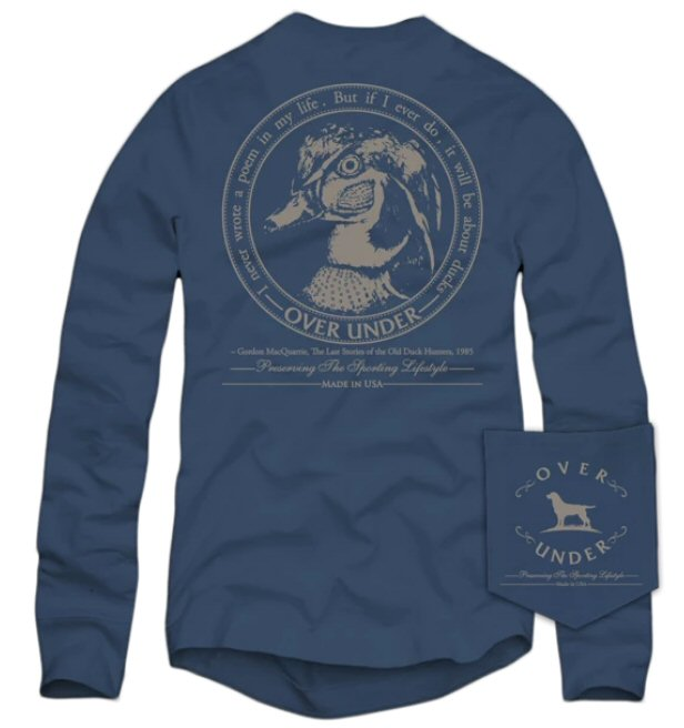 Over Under Wood Duck Crest t-shirt is unique and as southern as the gentleman that wear them. Shop Bennett's Clothing for the brands you want with the customer service you deserve.