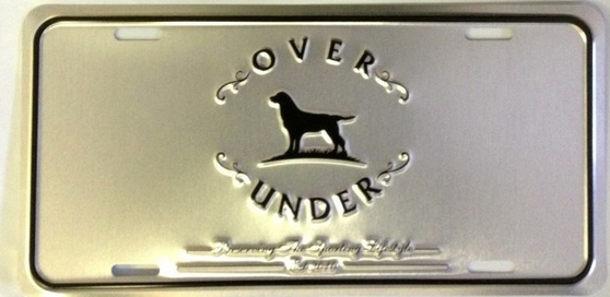 Over Under License Plate-Silver