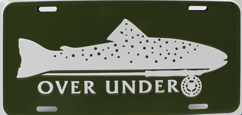 Over Under Trout Car/Truck Tag -Shop Bennetts Clothing for a large selection of mens name brand outdoorsman wear.