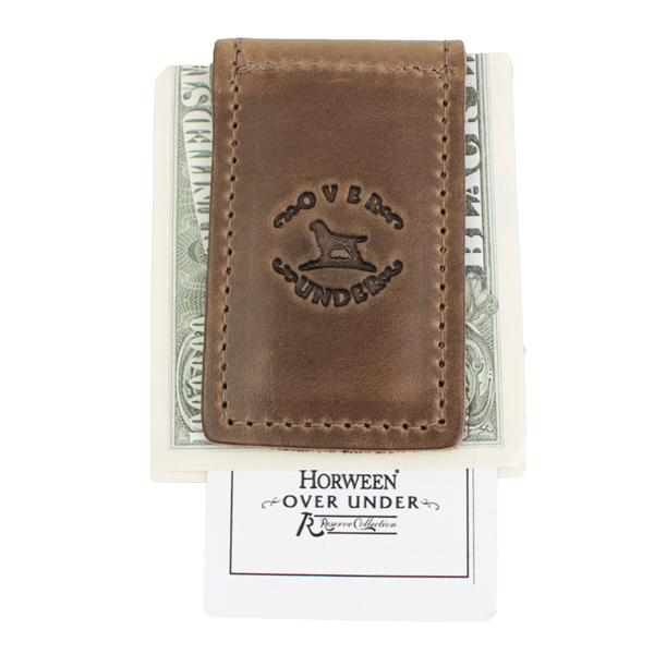 Over Under Horween Money Clip