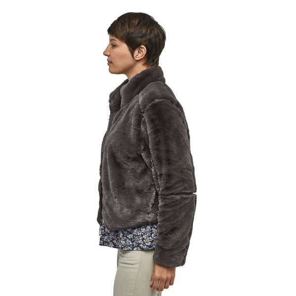Patagonia Lunar Frost Faux Fur Jacket-Forge Grey