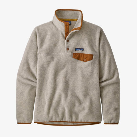 Patagonia W's Lightweight Synchilla Snap-T Pullover-Oatmeal Heather-Wood Brown