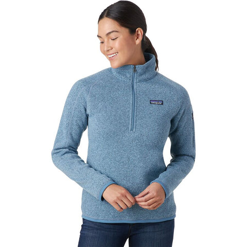 Patagonia W's Better Sweater 1/4 Zip Fleece Pullover-Berlin Blue