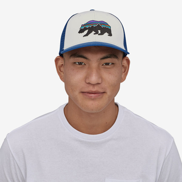 Patagonia Fitz Roy Bear Trucker Hat-White