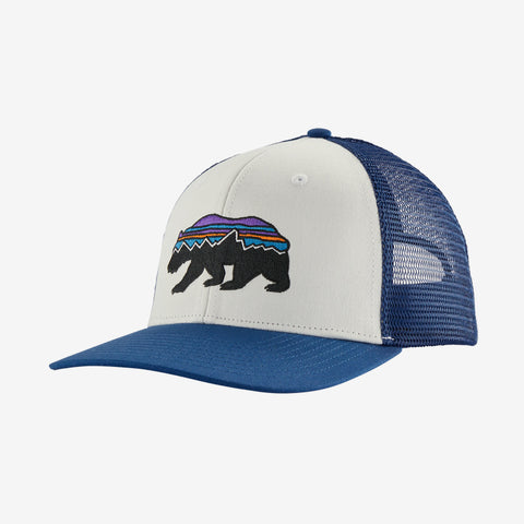 Patagonia Fitz Roy Bear Trucker hats are the latest in cool hats. Shop Bennetts Clothing for a large selection of name brand outdoor clothing