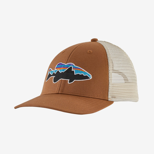Patagonia Fitz Roy Smallmouth Trucker hat is the latest in cool hats. Shop Bennetts Clothing for a large selection of name brand outdoor clothing