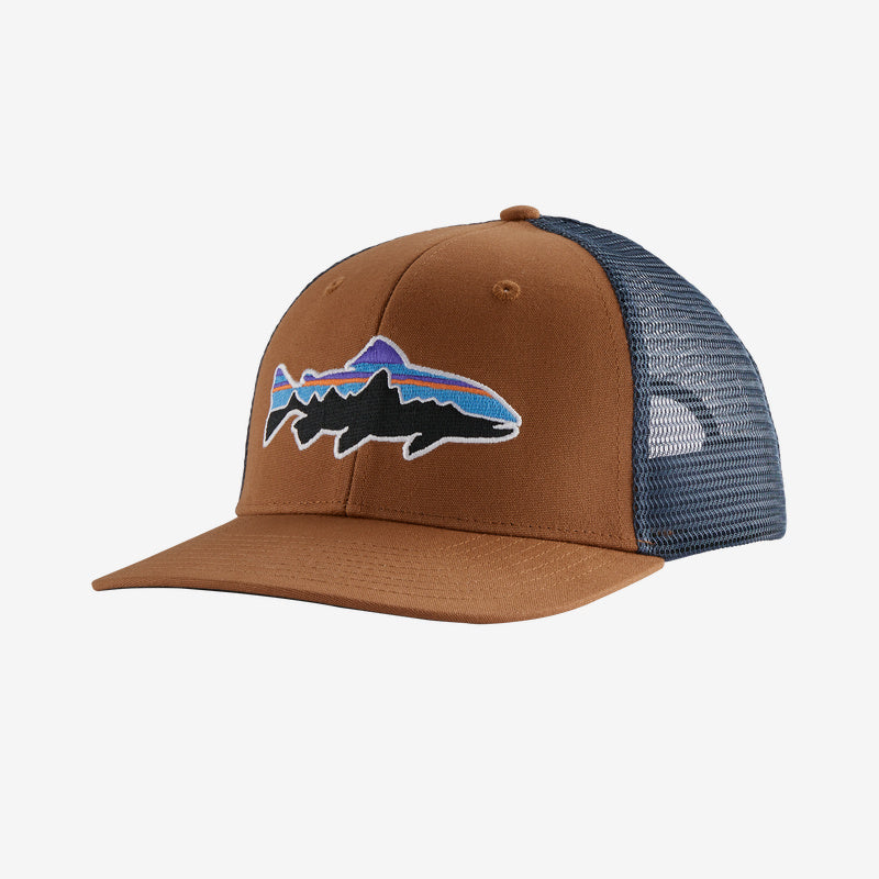 Patagonia Fitz Roy Trout Trucker hats are the latest in cool hats. Shop Bennetts Clothing for a large selection of name brand outdoor clothing
