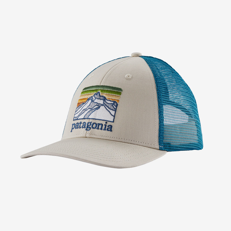 Patagonia Line Logo Ridge Logo Lopro Trucker hats are the latest in cool hats. Shop Bennetts Clothing for a large selection of name brand outdoor clothing
