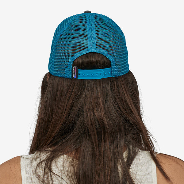Patagonia P-6 Logo Trucker Hat-White/Forge Grey