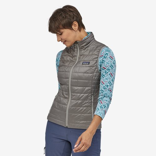 Patagonia Womens Nano Puff Vest-Feather Grey
