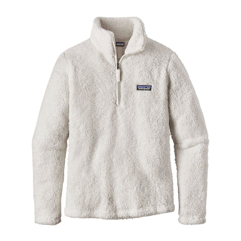Patagonia Womens Los Gatos 1/4 Zip Fleece Pullover-Birch White