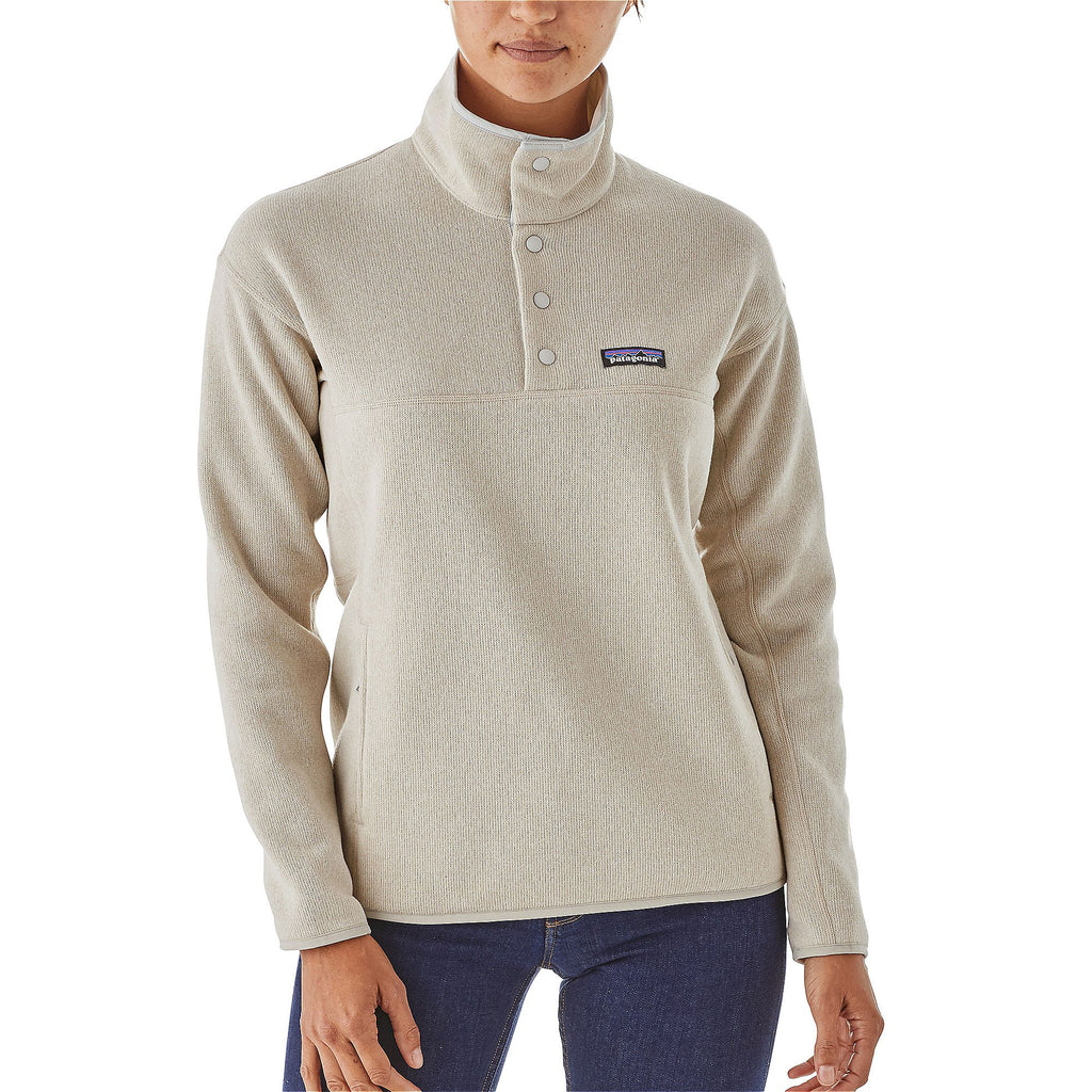 Patagonia Womens Lightweight Better Sweater Marsupial Pullover-Bleached Stone