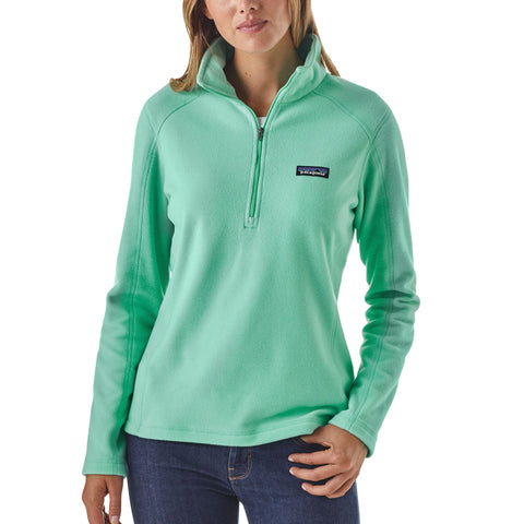 Patagonia Micro D 1/4 Zip Fleece Pullover for women -Shop Bennetts Clothing for a large selection of womens outerwear and boots with same day shipping