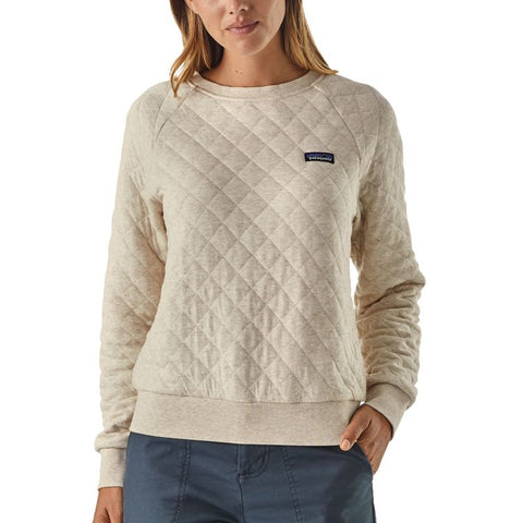 Patagonia Womens Cotton Quilt Crew Sweatshirt-Calcium