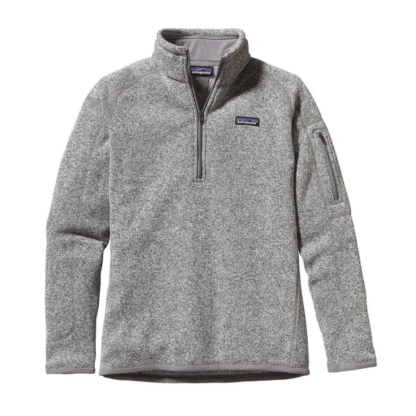 Patagonia Womens Better Sweater 1/4 Zip Fleece Pullover-Birch White - Bennett's Clothing - 1