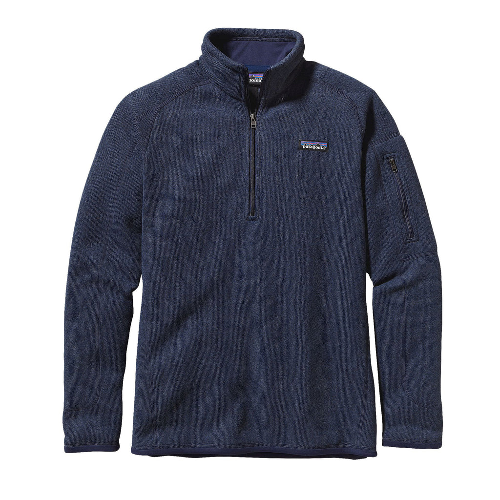 Patagonia Womens Better Sweater 1/4 Zip Fleece Pullover-Classic Navy - Bennett's Clothing