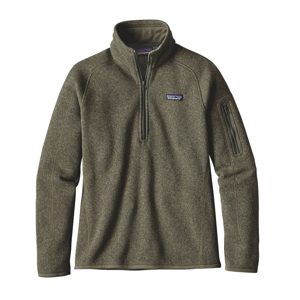 Patagonia Womens Better Sweater 1/4 Zip Fleece Pullover-Industrial Green - Bennett's Clothing