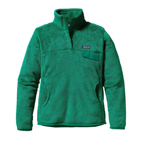 Patagonia Womens Re-Tool Snap-T Fleece Pullover-Impact Green - Bennett's Clothing