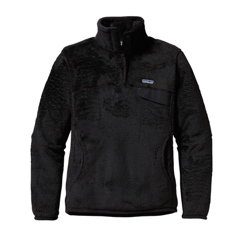 Patagonia Womens Re-Tool Snap-T Fleece Pullover-Black