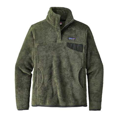 Patagonia Womens Re-Tool Snap-T Fleece Pullover-Buffalo Green