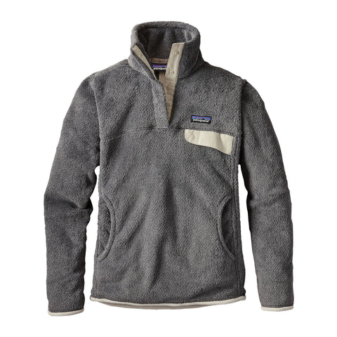 Patagonia Womens Re-Tool Snap-T Fleece Pullover-Feather Grey