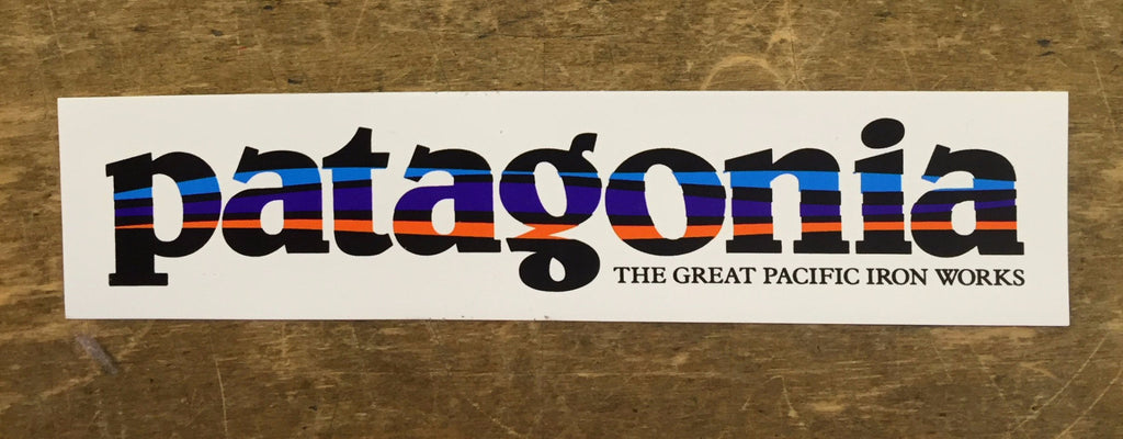 Patagonia The Great Pacific Iron Works Sticker - Bennett's Clothing