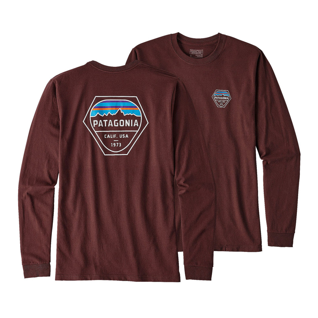 Patagonia Fitz Roy Responsibili Long Sleeve T-Shirt-Dark Ruby