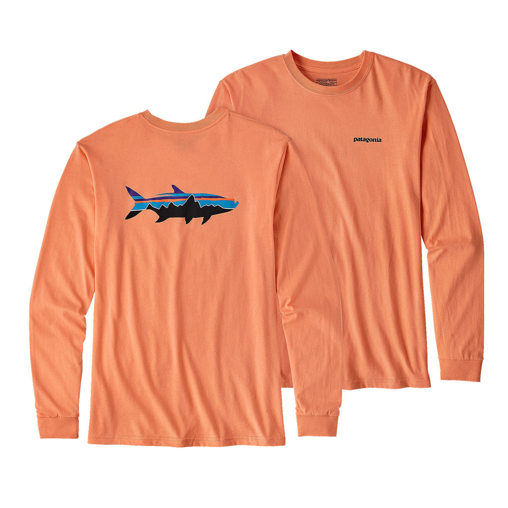 Patagonia Fitz Roy Tarpon Long Sleeve T-Shirt-Peach Sherbet