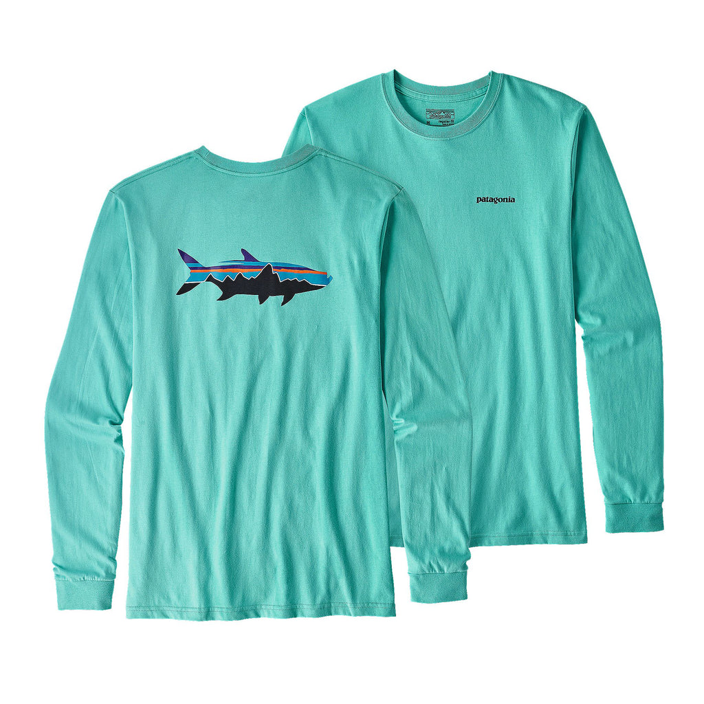 Patagonia Fitz Roy Tarpon Long Sleeve T-Shirt-Strait Blue