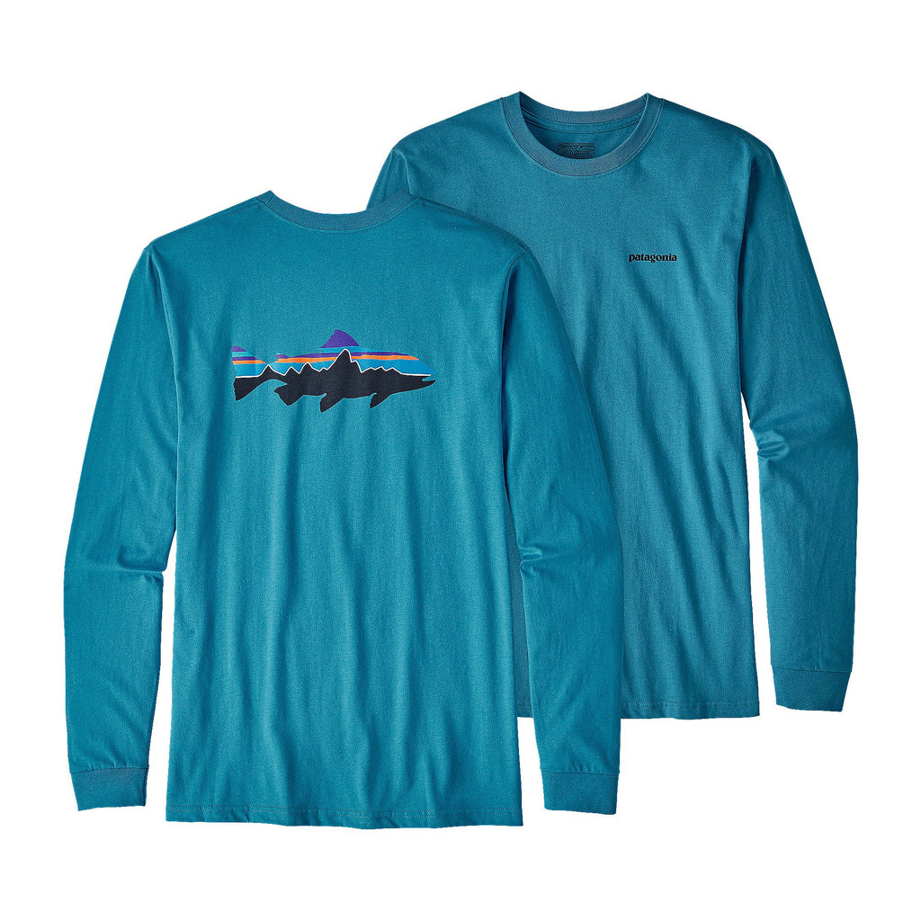Patagonia Fitz Roy Trout Long Sleeve T-Shirt-Filter Blue