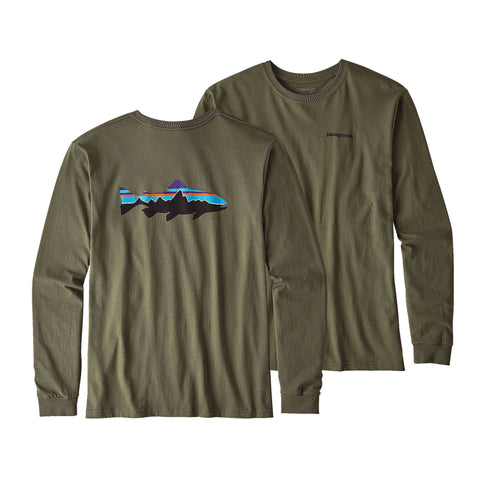 Patagonia Fitz Roy Trout Long Sleeve T-Shirt-Industrial Green