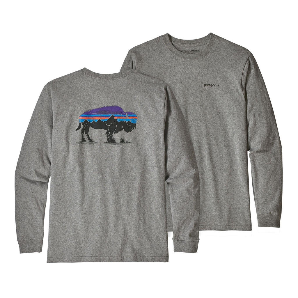 Patagonia Fitz Roy Bison Responsibili Long Sleeve Tee -Shop Bennetts Clothing for a large selection of name brand outdoor clothing