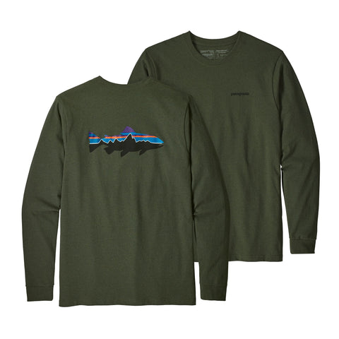 Patagonia Fitz Roy Trout Responsibili Long Sleeve Tee -Shop Bennetts Clothing for a large selection of name brand outdoor clothing