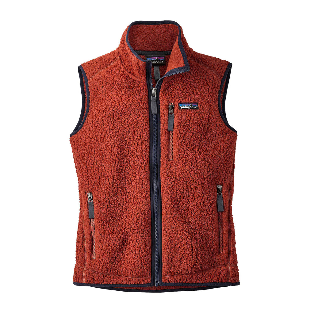 Patagonia Womens Retro Pile Vest-Roots Red