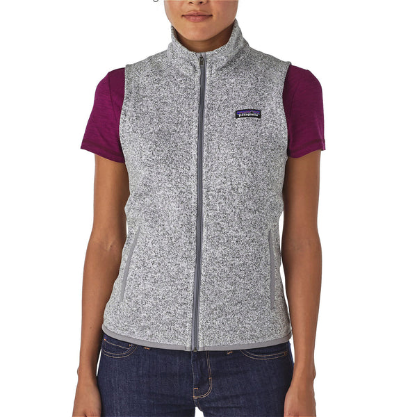 Patagonia Womens Better Sweater Fleece Vest-Birch White - Bennett's Clothing - 1