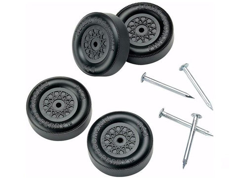 Official Pinewood Derby Wheels and Axles - Bennetts has all your Scouting needs with same day shipping