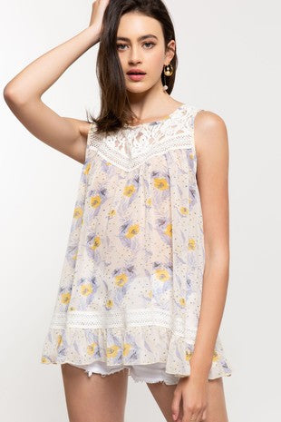 POL Sleeveless floral print babydoll is perfect for summer and that casual beach look. Shop Bennetts Clothing for the latest in women's fashions shipped same day..