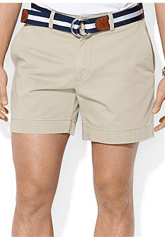 "Polo Men's Classic Fit 6"" Flat-Front Short-Khaki - Bennett's Clothing - 1"