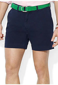 "Polo Men's Classic Fit 6"" Flat-Front Short-Navy - Bennett's Clothing - 1"