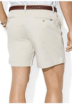 "Polo Men's Classic Fit 6"" Flat-Front Short-Stone - Bennett's Clothing - 2"