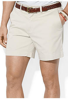 "Polo Men's Classic Fit 6"" Flat-Front Short-Stone - Bennett's Clothing - 1"