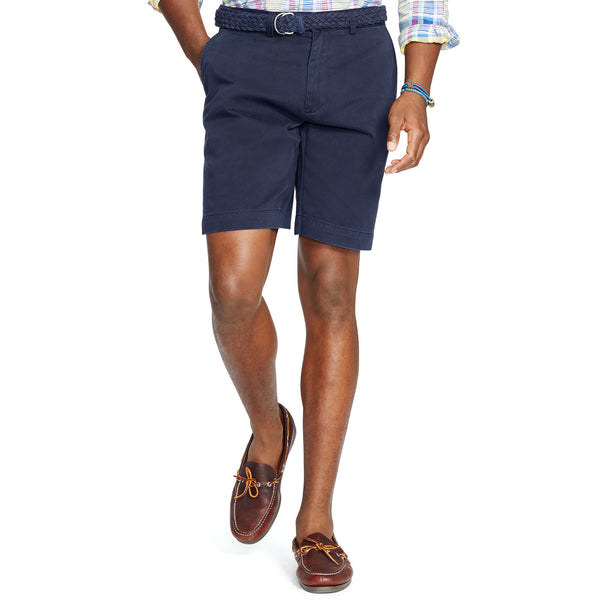 "Polo Men's Classic Fit 9"" Flat-Front Short-Navy Blue - Bennett's Clothing - 1"