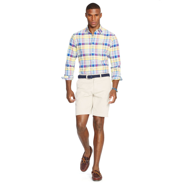 "Polo Men's Classic Fit 9"" Flat-Front Short-Stone - Bennett's Clothing - 3"