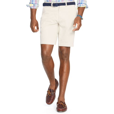 "Polo Men's Classic Fit 9"" Flat-Front Short-Stone - Bennett's Clothing - 1"