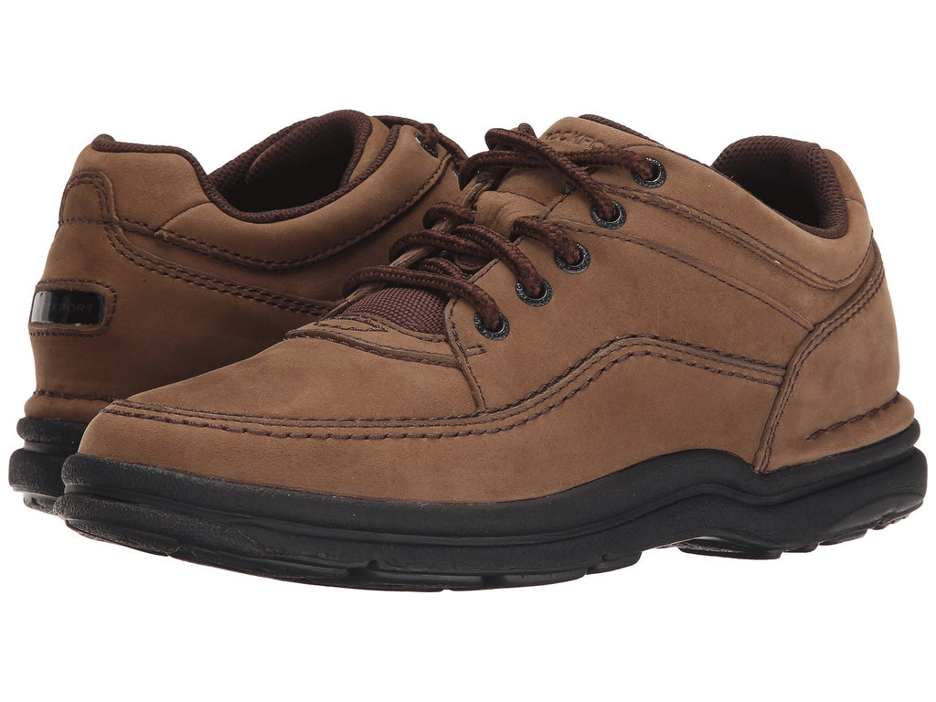 Rockport World Tour Classic Walking Shoe-Chocolate Nubuck - Bennett's  Clothing - 1