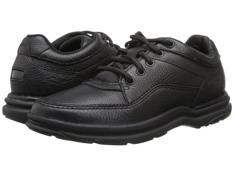 Rockport World Tour Classic Walking Shoe-Black Tumbled - Bennett's Clothing - 1