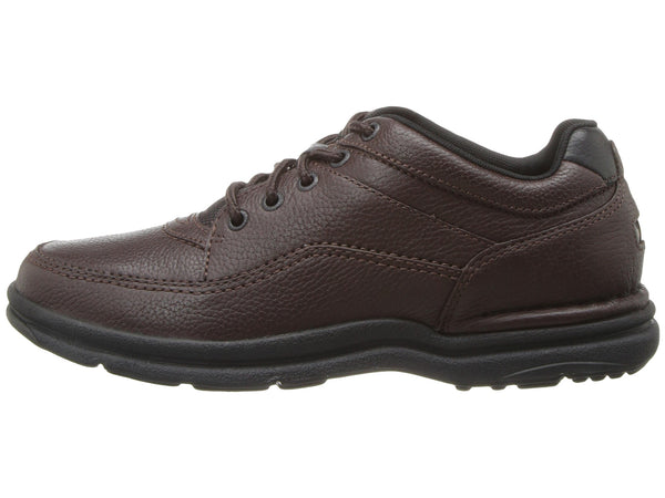 Rockport World Tour Classic Walking Shoe-Brown Tumbled - Bennett's Clothing - 2